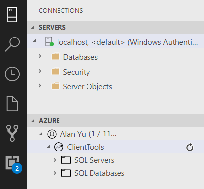 View of connections. in SQL Server.
