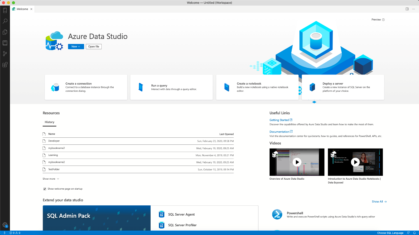 The April 2020 release of Azure Data Studio is now available - SQL Server Blog