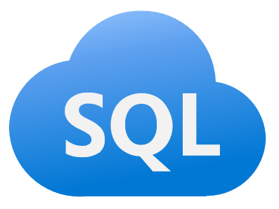 S Q L logo in a blue cloud