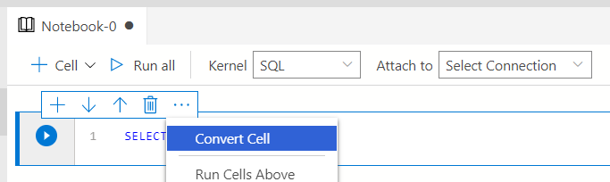 Change cells to code or text cells