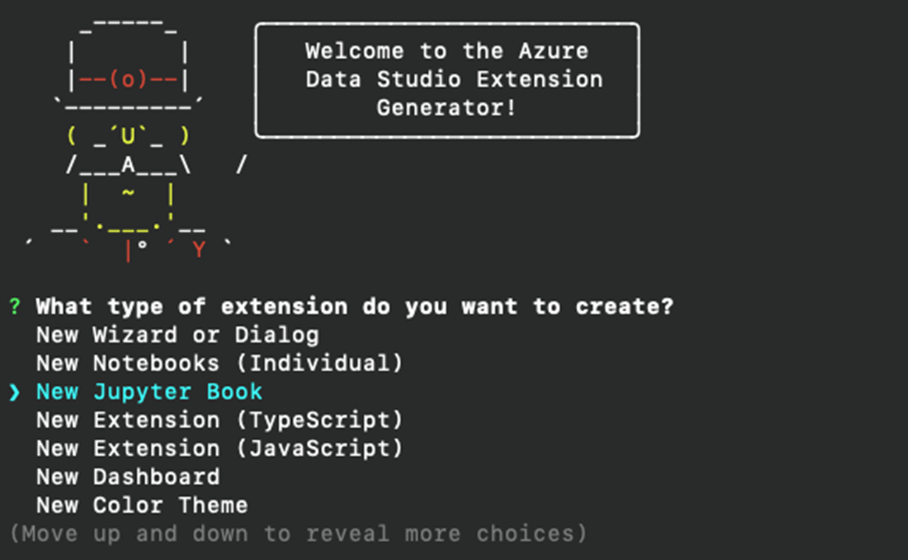 showcasing new templates for extension generator