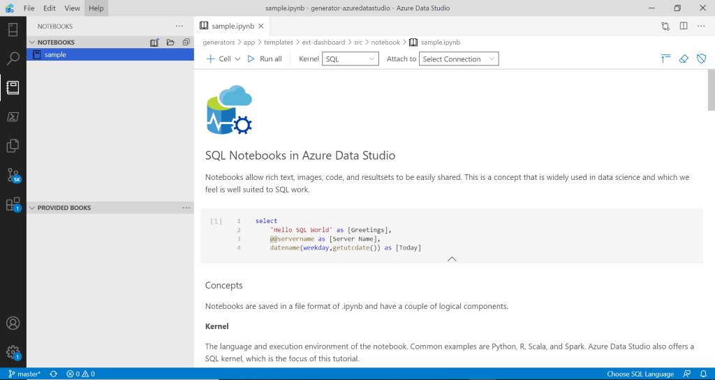 Jupyter Notebooks in Azure Data Studio