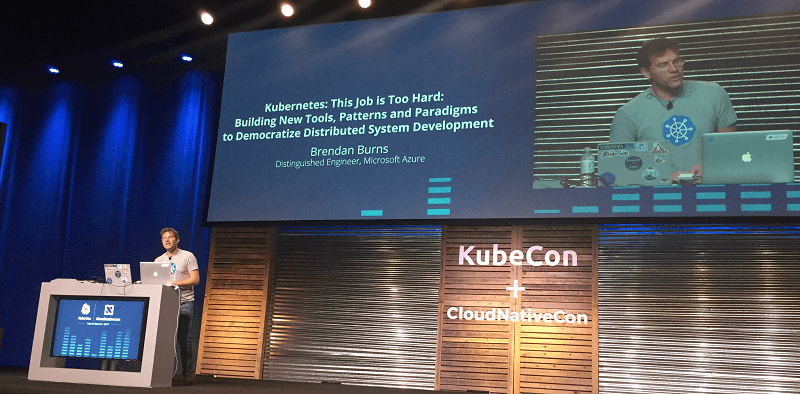 Kubernetes co-founder Brendan Burns keynotes at KubeCon