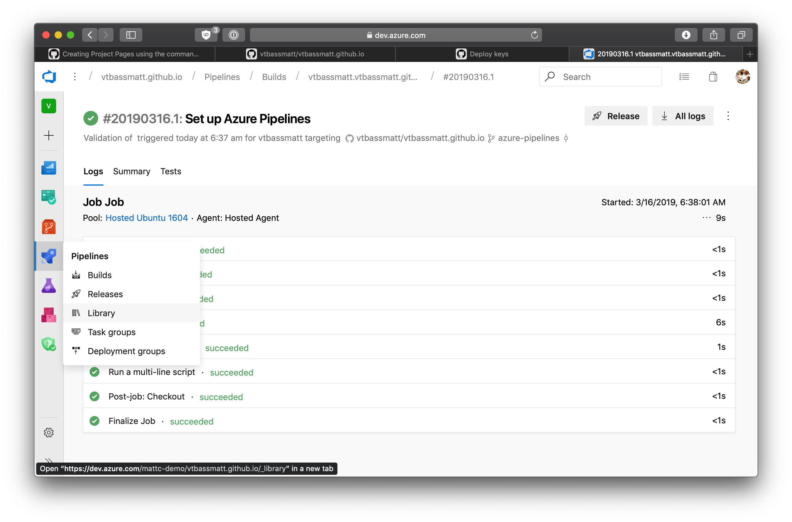 Publishing GitHub Pages from Azure Pipelines - Open Source Blog