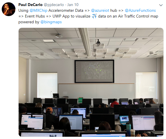 Twitter picture of class demo