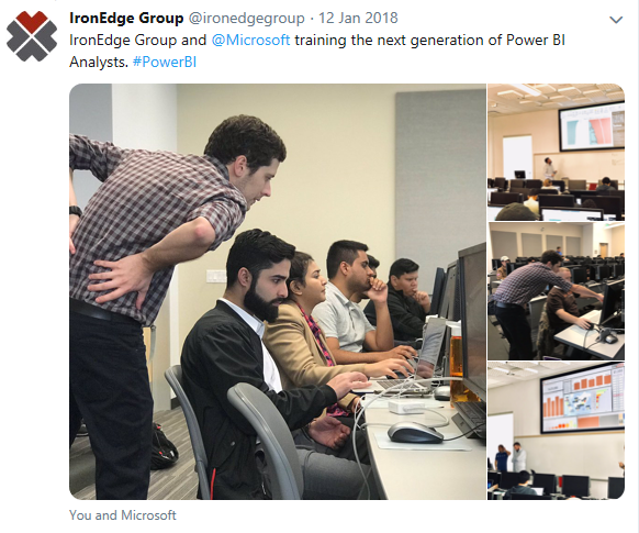 Twitter image of Power BI demo