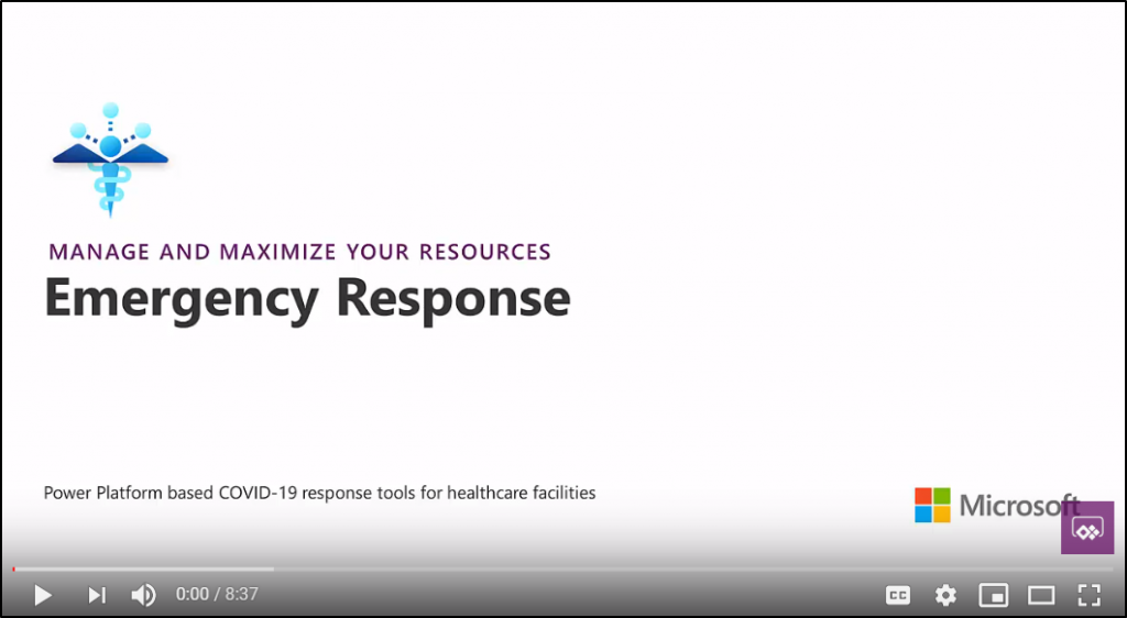 Video for Emergency Response solution.