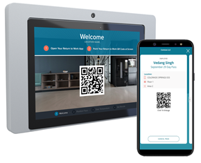 Teknikos Communify Greet App that scans QR code from RTW app and provides an additional level of screening