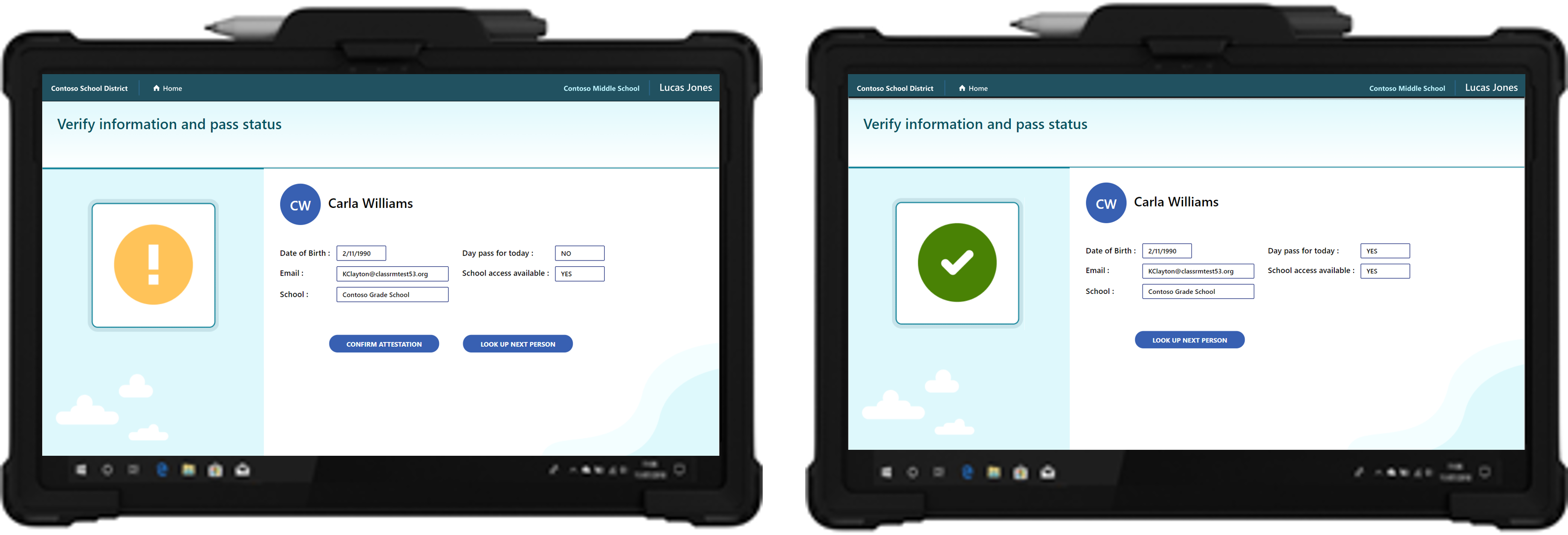 For students without a device or a day pass, school staff can review attestation with the student or their guardian and create a daily pass for the student.