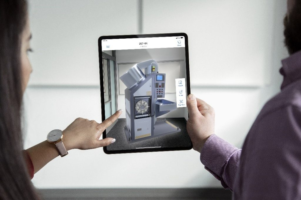 Microsoft Dynamics 365 Product Visualize shown on a tablet.