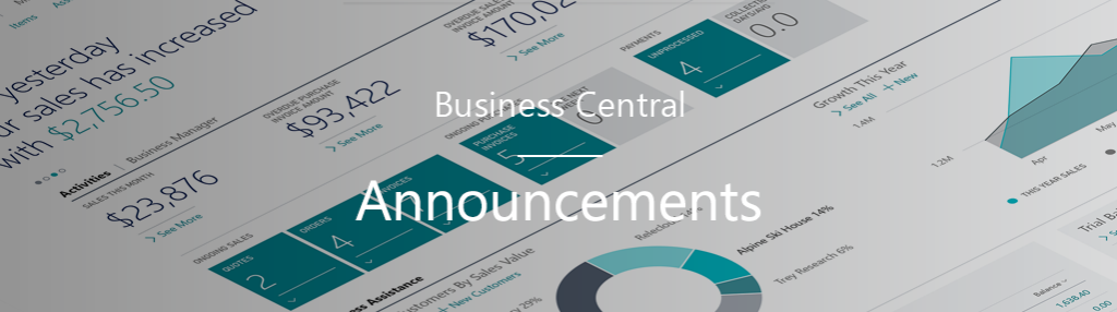 Business Central announcement