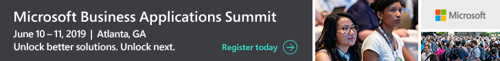 Register today for the Microsoft Business Applications Summit.
