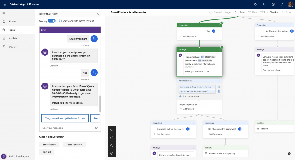 Dynamics 365 Virtual Agent for Customer Service.