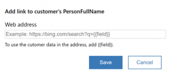 adding a link to a field in the Dynamics Customer Card