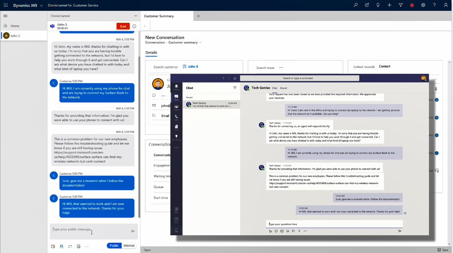 Microsoft Teams can now be used to facilitate internal support delivery to employees