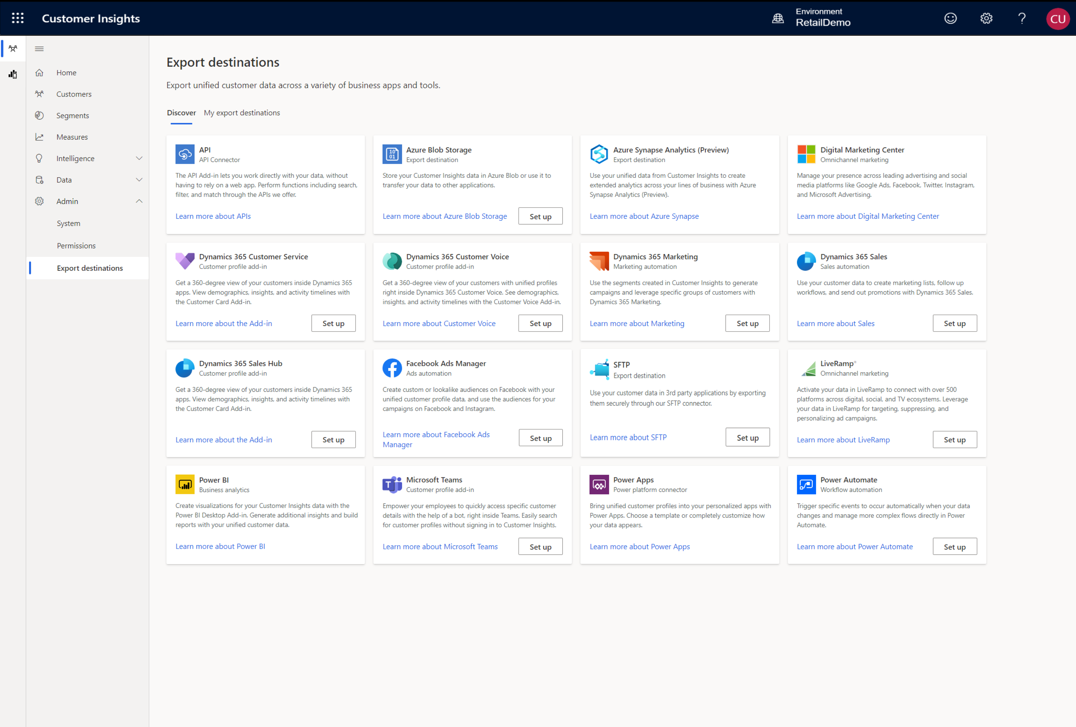 Export unified customer data across a variety of business apps and tools.