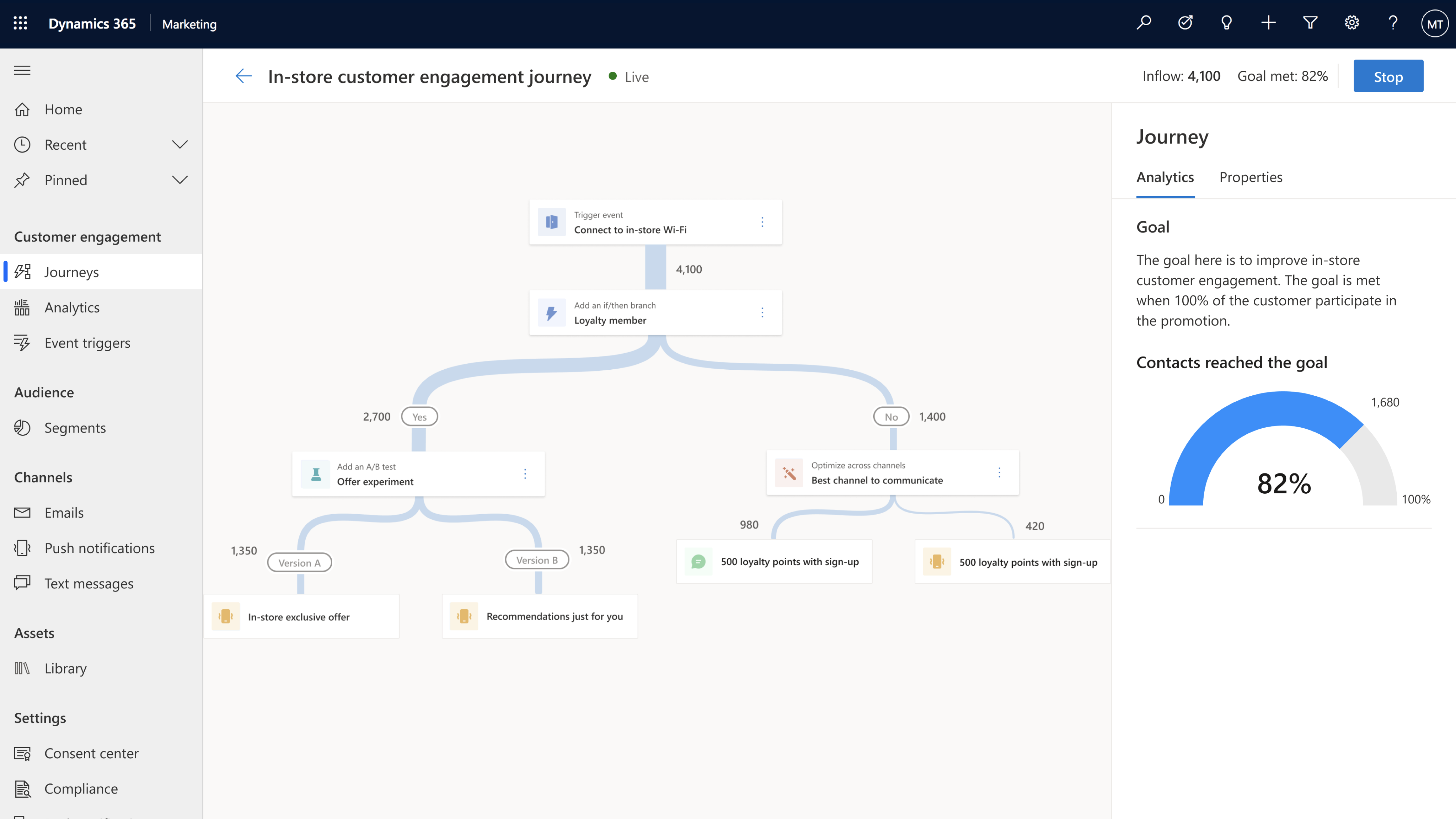 The new journey designer simplifies the creation of steps along a moments-based customer journey