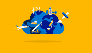 Global cloud graphic